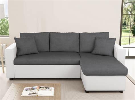 canape gris blanc canapé d 39 angle réversible et convertible avec coffre gris