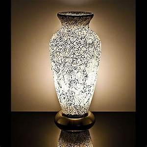 white mosaic vase lamp style 3 With glass vase floor lamp