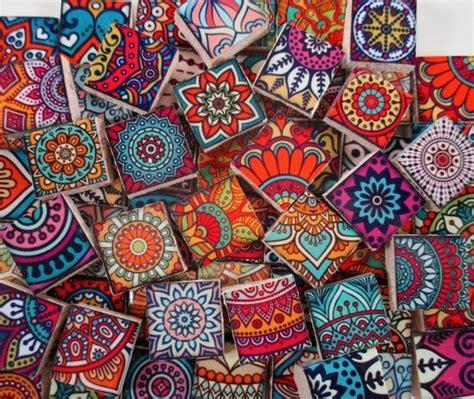 ceramic mosaic tiles moroccan boho tile medallions