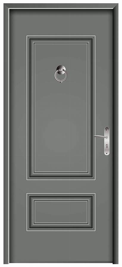 Door Grey Clip Clipart Doors Transparent Cartoon