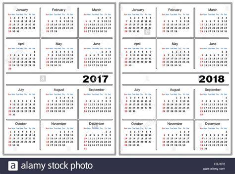 2017 2018 calendar template calendar template 2017 2018 stock vector illustration vector image 122713082 alamy