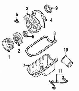 Ford Aerostar Engine Timing Cover  Liter  Sho  Cylinder