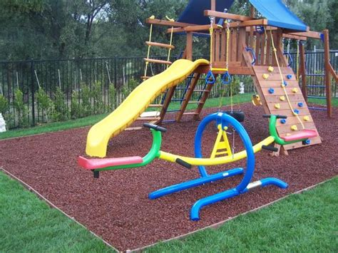 Backyard Playground Ground Cover by 5 Things To Put Your Playset To Save Your Child From
