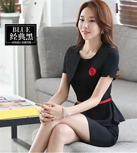 Two Pieces One Step Mini Skirt Business Wear Women Suits