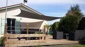 bache tendue pour terrasse tonnelle voile d ombrage exoteck With bache tendue pour terrasse