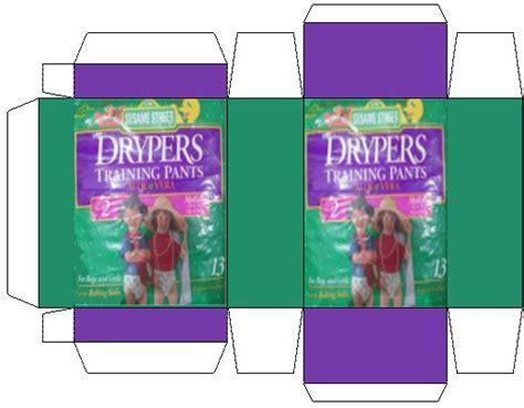 Drypers Diapers/training Pants Dollhouse Mini Box