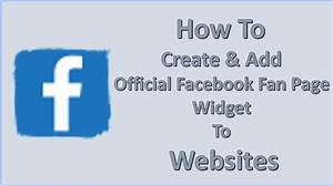 How to Create & Add Official Facebook Fan Page Widget to ...