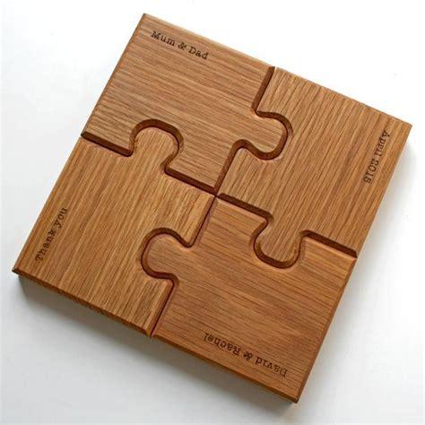 personalised chunky jigsaw coasters  trivet