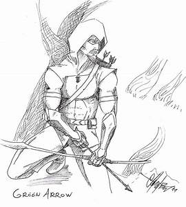 Sketch Green Arrow Hood Coloring Pages Page