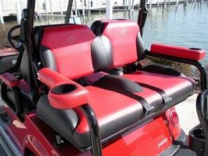 Universal Golf Cart Rear Seat Arm Rests W Cup Holders