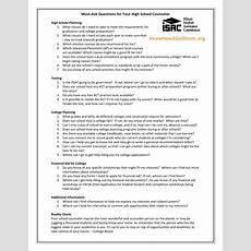 Questions To Ask Your High School Counselor