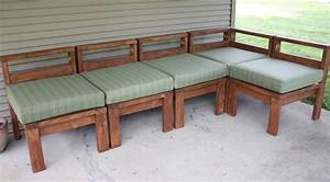 Woodwork diy outdoor sectional pdf plans for Homemade 2x4 furniture