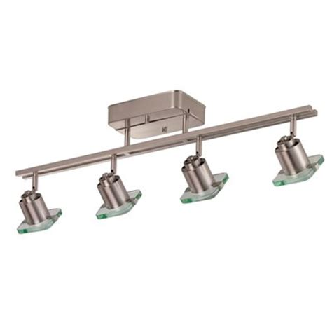 brushed nickel track lighting kits portfolio unna 4 light brushed nickel led fixed track