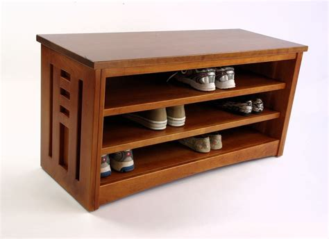 shoe rack bench cherry wood shoe racks houses plans designs