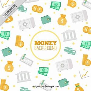 Decorative background with money element Vector | Free ...