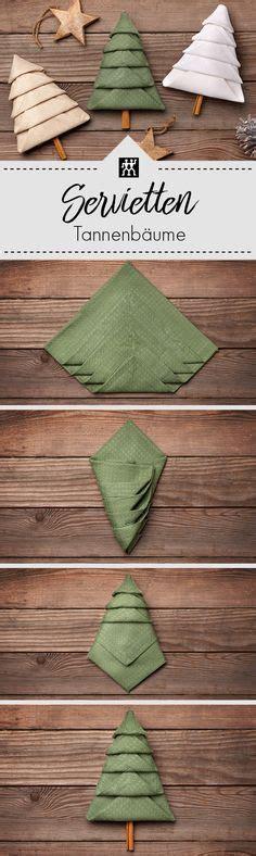 diy weihnachtsdeko tolle weihnachtsdeko f 195 188 r die weihnachtstafel servietten zum