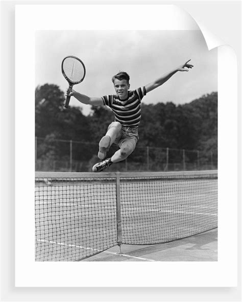 This is a great kids tennis racket for ages 11 and up. 1930s Teenage Boy Tennis Player Jumping Net With Racket In Hand   Tennis, Tennis players ...
