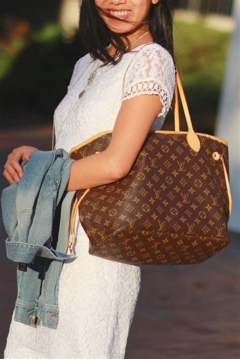 carry  literally louis vuitton monogram neverfull mm bag love pinterest louis