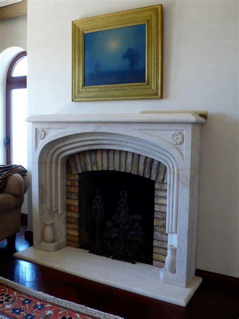 custom mission spanish revival stone fireplace mantels