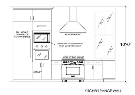 kitchen range wall elevation kitchen elevation