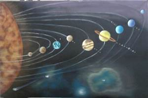 Solar System Painting by Rute Avelino