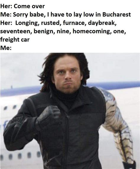 Winter Soldier Meme - winter soldier bae come over know your meme