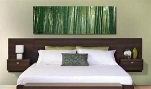 Tete De Lit Avec Tablette : t te de lit avec rangement fonctionnel et esth tique ~ Teatrodelosmanantiales.com Idées de Décoration