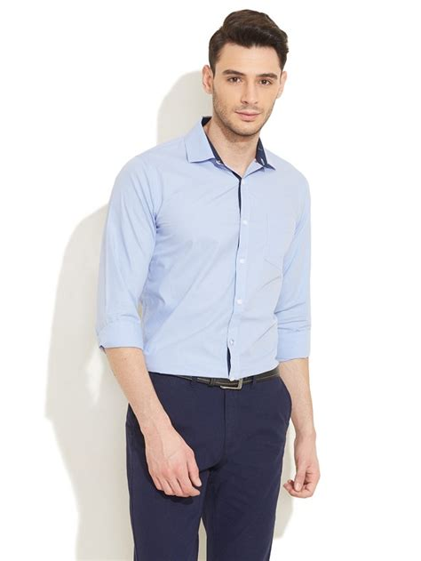 khaki and blue striped 39 s guide to pant shirt combination looksgud in