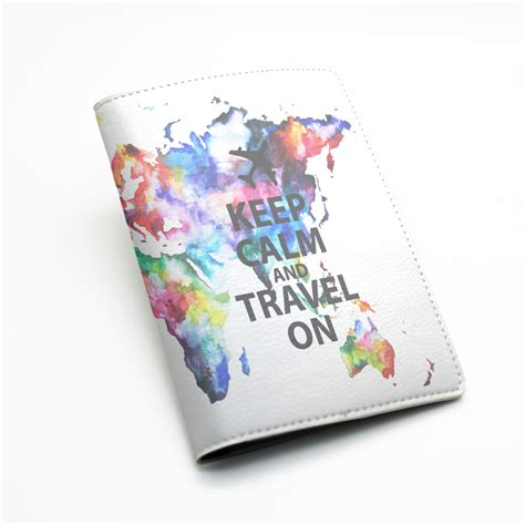 passport holder designer pu leather passport holder cover travel wallet