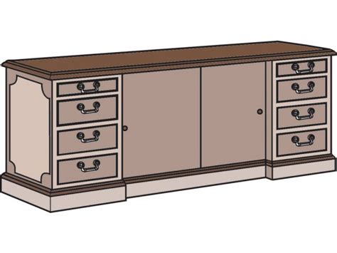 Bedford Executive Office Credenza File Cabinet Bed3072