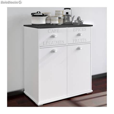 mueble auxiliar cocina blanco  puertas  cajones ref