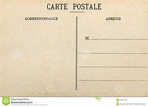 Blank French Postcard Stock Photography - Image: 19970752