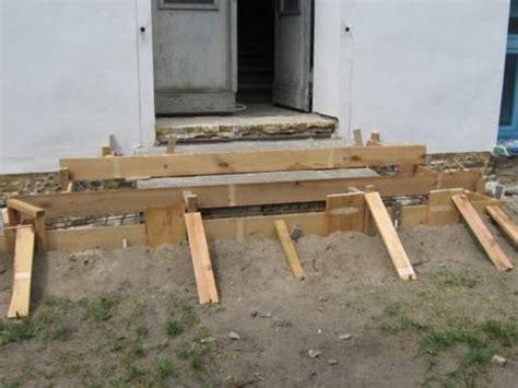 aussentreppe bauen anleitung beton und granit