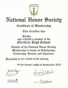 Happy clean living national honor society for National honor society certificate template