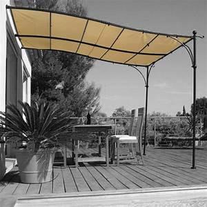 Tonnelle Terrasse : toile pour tonnelle luberon 3x3m 200gr m oogarden france ~ Melissatoandfro.com Idées de Décoration