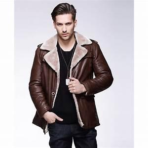 Manteau Homme Avec Fourrure : manteau cuir court pour homme avec col revers laine ~ Melissatoandfro.com Idées de Décoration