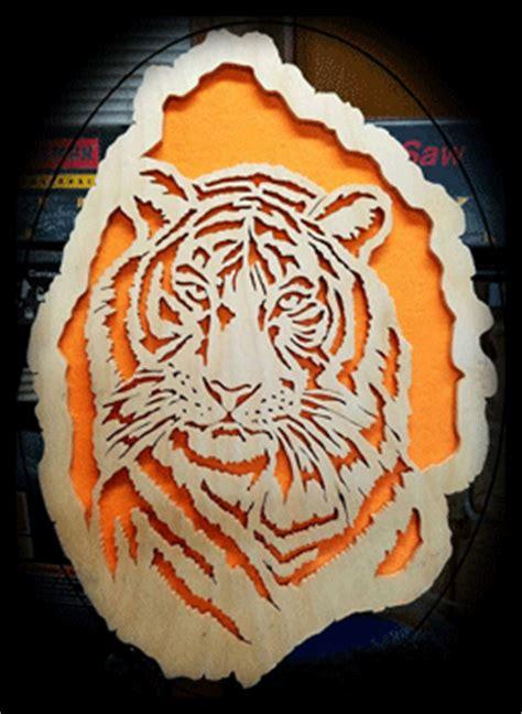 scroll  patterns wild cats tiger