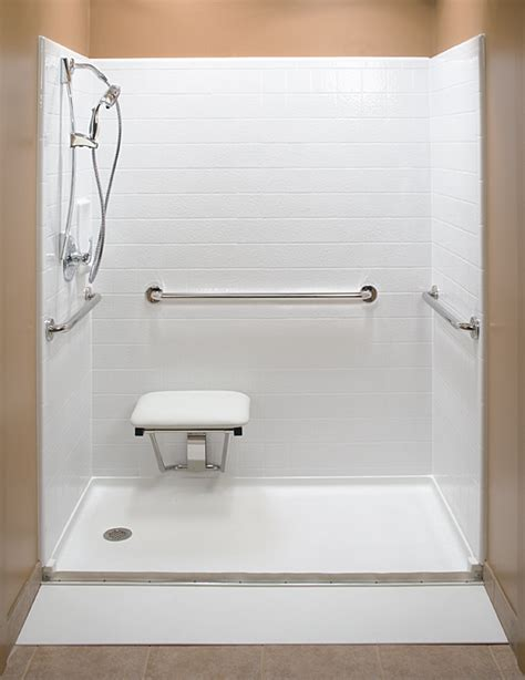 One Piece Acrylic Tub Shower Units by Handicap Shower