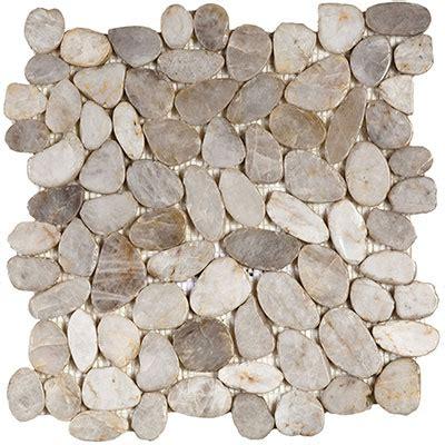 river rock tile interceramic river rocks mosaics snowball sliced