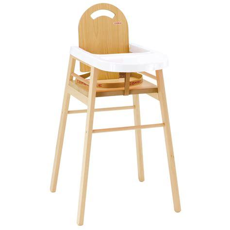 chaise haute bois blanc chaise haute bébé lili bois naturel avec tablette blanc de