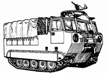 Clipart Tracked Vehicles Army Coloring Pages Clip