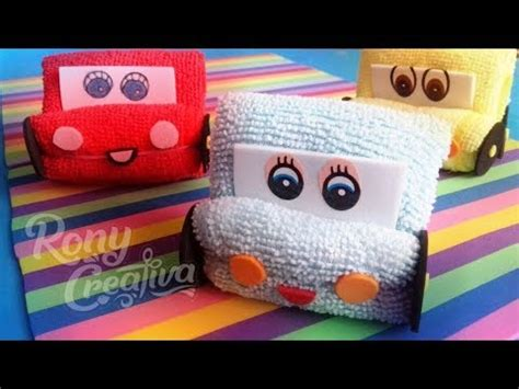 carritos de toalla manualidades f 225 ciles de disney cars ronycreativa