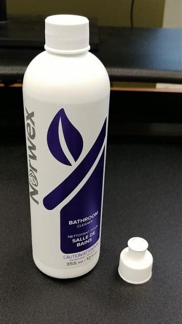 norwex canada recalls bathroom cleaner