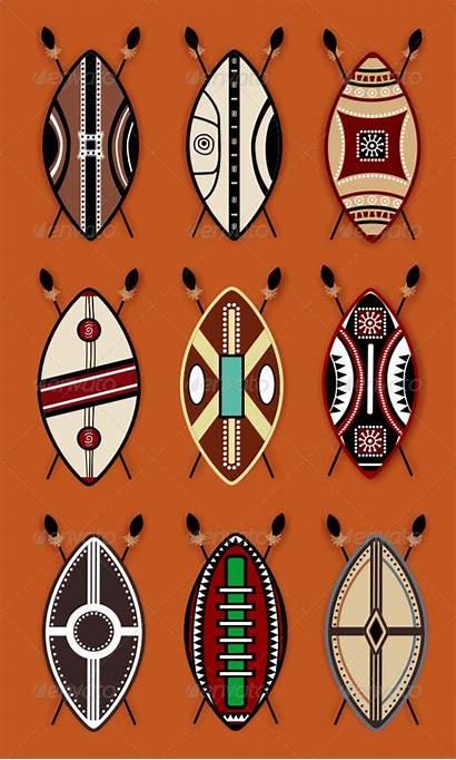 African Masai Shield Designs Vector Symbols Graphicriver