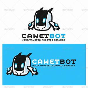 Cawet Bot Modern Robot Logo Template by Suhandi | GraphicRiver