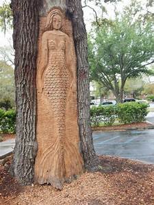 Forever young but growing old st simon39s island for Tree spirit carvings by keith jennings
