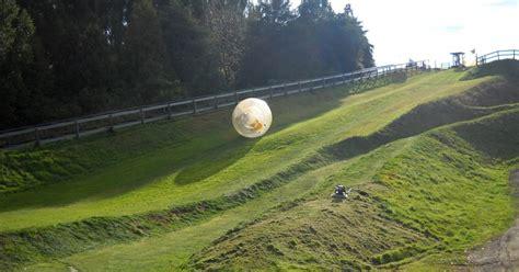 feel  rolling   hill   giant ball  zorbing