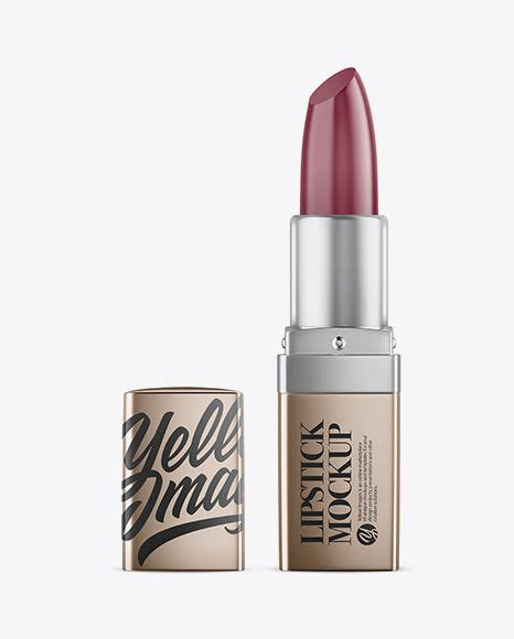 I really hope that you will find it useful in your work. Opened Metallic Square Lipstick Mockup in Tube Mockups on ...