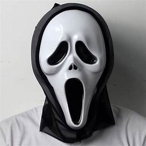 Opening Mouth & Long tongue Scream Ghost Scary Face Mask ...