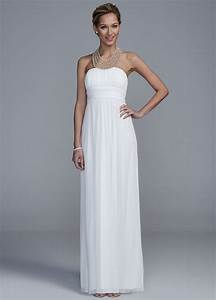 db studio long mesh wedding dress with pearl necklace With mesh top wedding dress